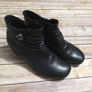 Earth Origins Mallory Booties Leather Black